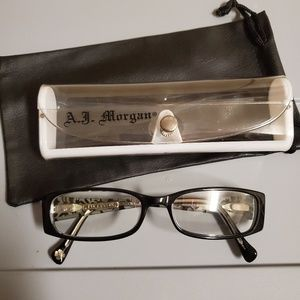 -1.50 glasses w/ free case & leather pouch